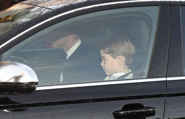 Prince-George-arrives-at-Queens-Christmas-lunch
