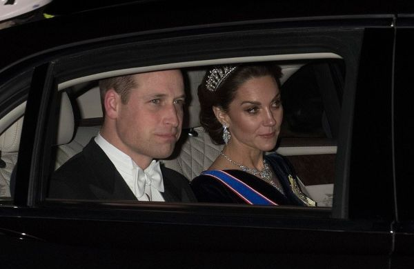William And Kate Arrive At The Queen's Diplomatic Reception