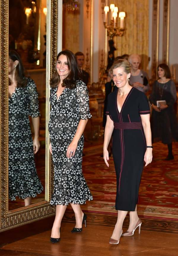 Kate and Sophie Buckingham Palace