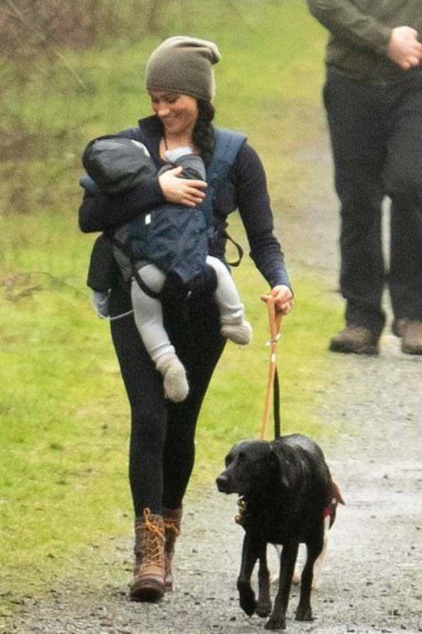 Meghan And Archie Pictured Taking A Stroll As Harry Boards A Flight To Vancouver