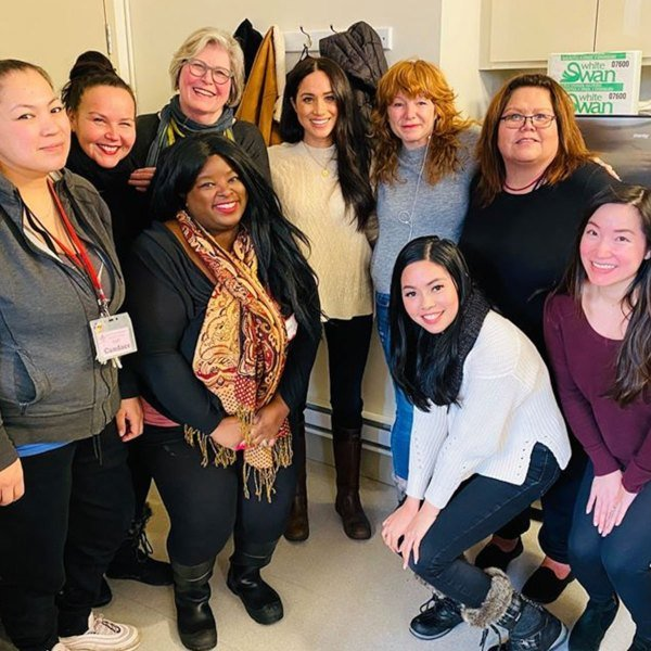 Meghan stopped by the Downtown Eastside Women's Centre in Vancouver