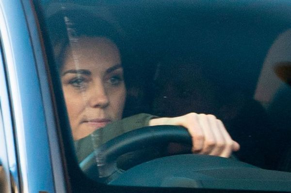Prince Louis Pictured Arriving At Kensington Palace With Mom Kate