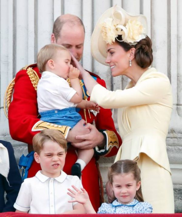 Prince Louis sucking his thumb at Trooping the Colour