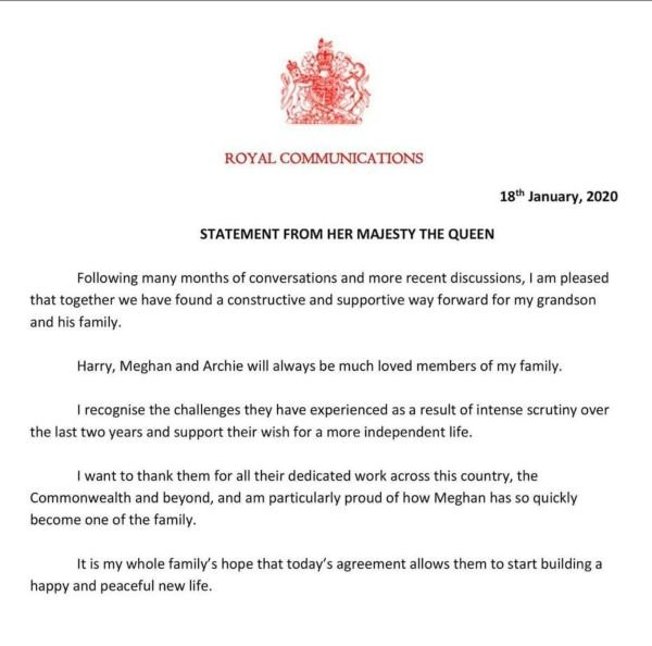 The Palace Revealed Harry And Meghan Will No Longer Use HRH Titles