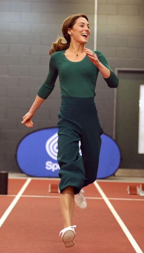 Duchess Kate Showed Off Athletic Skills At SportsAid Event