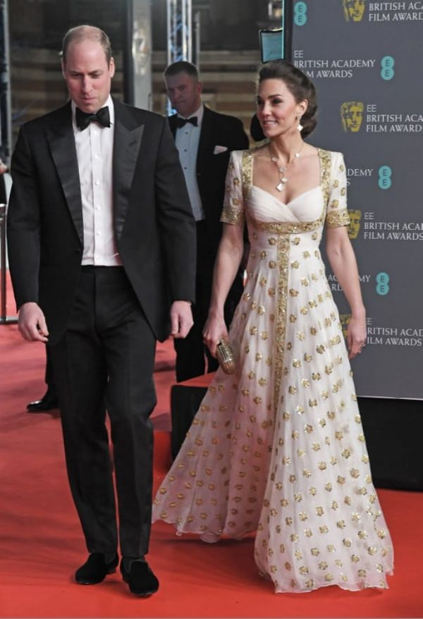 Prince William And Kate Arrive At BAFTAs 2020