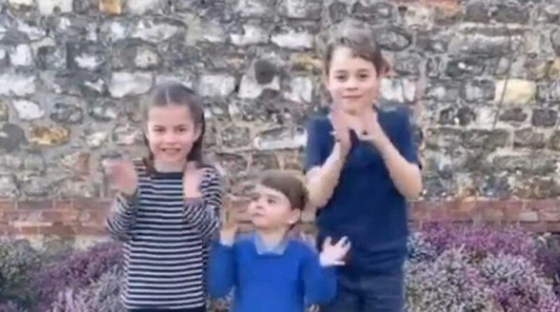 George, Charlotte And Louis Clap For NHS Workers In New Video