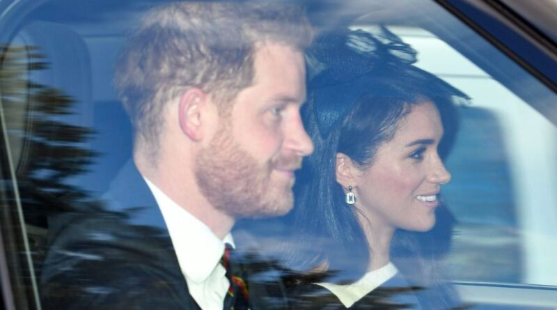 Harry And Meghan Join The Queen For Chruch Service