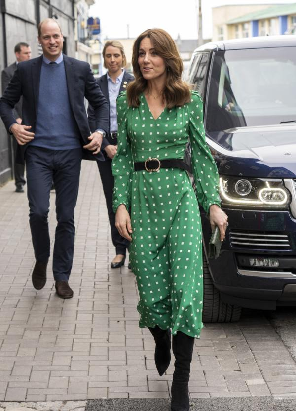 Kate Middleton Green Polka Dot Dress Ireland