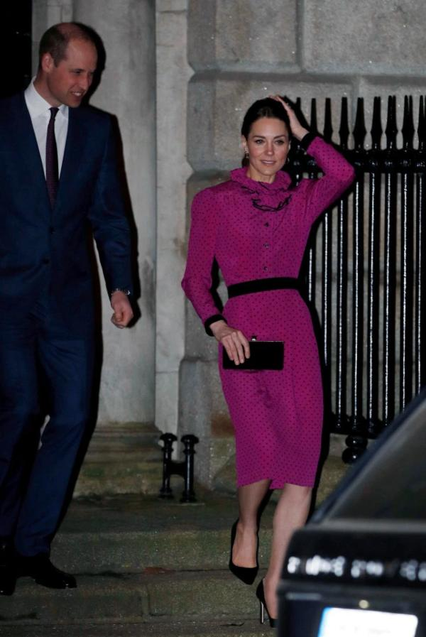 Prince William and Kate Ireland Tour Pink Dress