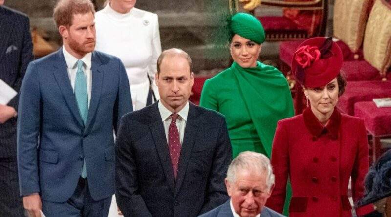 The Reason Why William, Kate, Harry And Meghan Didn't Shake Hands At Commonwealth Day 2