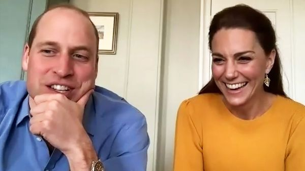 Prince William and Kate video call students