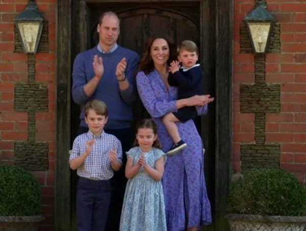 William, Kate And The Children Join UK To Thank NHS Workers