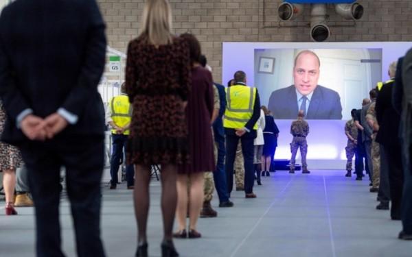 Prince William opened Birmingham's NHS Nightingale Hospital