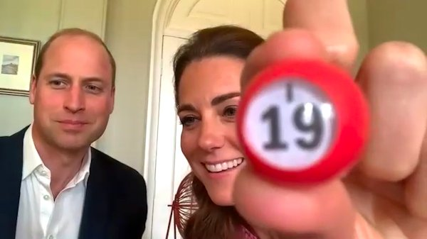 William and Kate plaing bingo