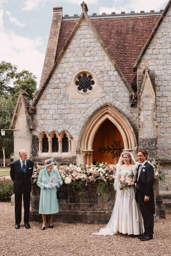 Princess Beatrice wedding photo with the Queen and Prince Philip
