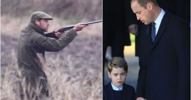 Prince George Watches Prince William On Scottish Grouse Shoot