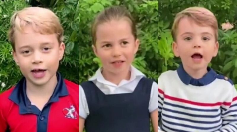 George Charlotte and Louis ask Sir David Attenborough questions in new video