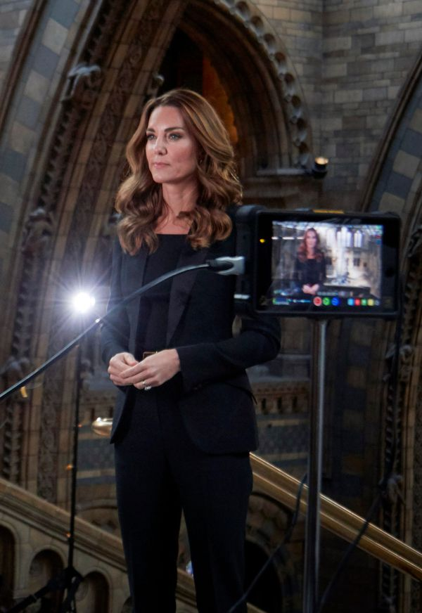 The Duchess filming in the Natural History Museum