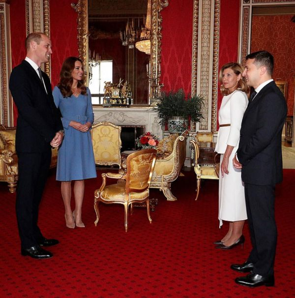 Prince William And Kate Welcome Ukraine's President And First Lady At Buckingham Palace