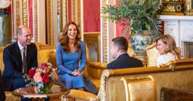 Prince William And Kate Host Ukraine's President And First Lady At Buckingham Palace