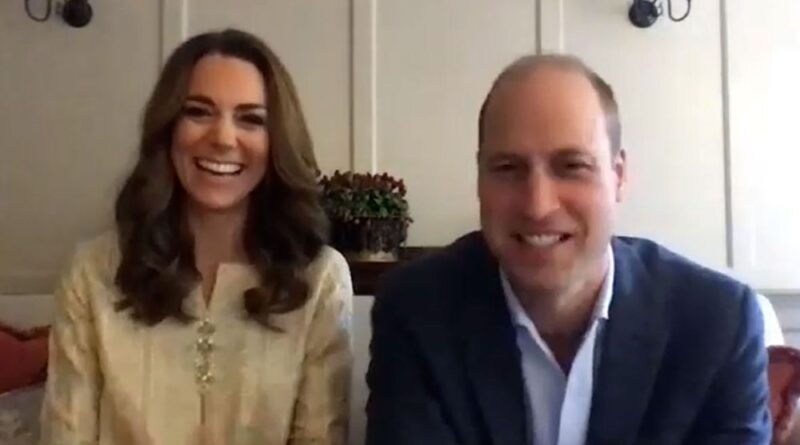 Prince William and Kate Middleton video call
