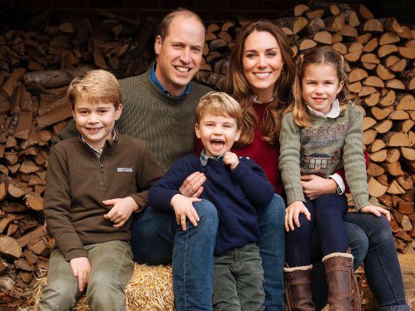 Prince William, Kate Middleton, Prince George, Princess Charlotte and Prince Louy