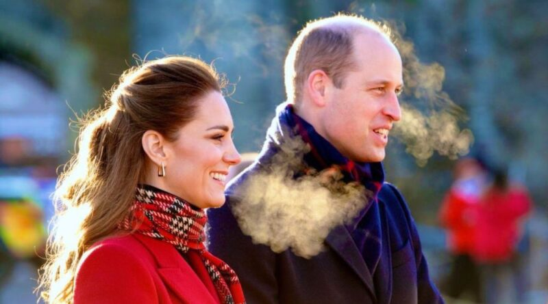 Prince William and Kate Middleton on Royal Train Tour