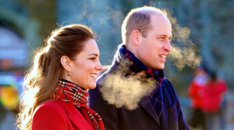 Prince William and Kate Middleton on Royal Train Tour