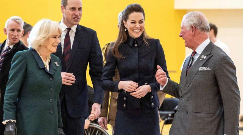 Prince Charles, Camila, Prince William and Kate