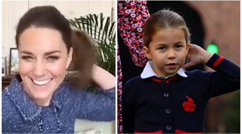 Princess Charlotte Goes Viral Imitating Mom Kate In Adorable Video