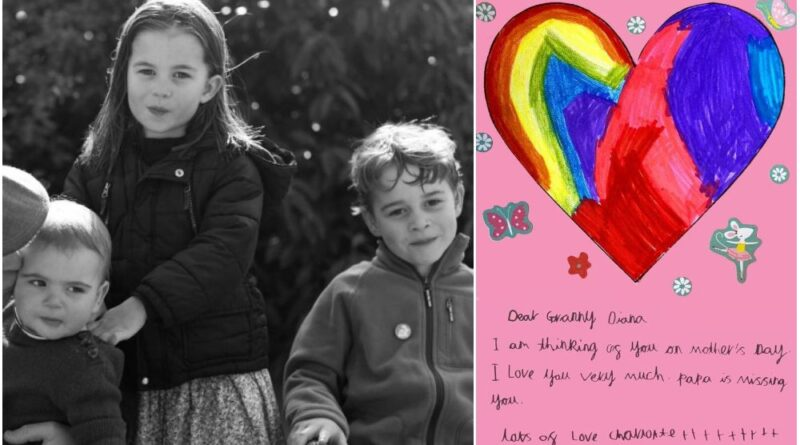 Read George Charlotte And Louis Letter to Princess Diana on Mother's Day