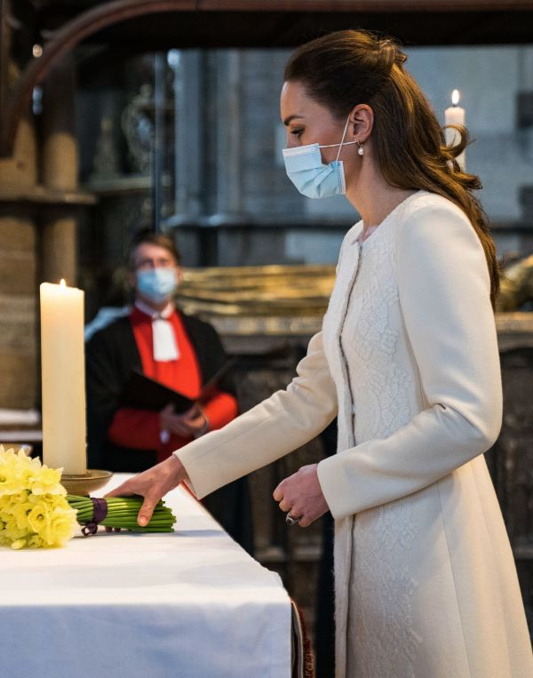 The Duke and Duchess took part in a moment of reflection at Westminster Abbey
