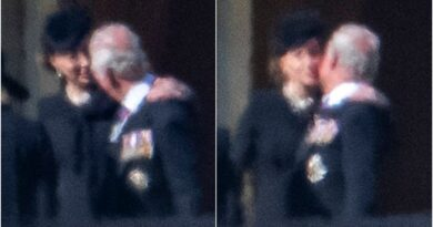 Kate Seen Comforting Prince Charles With Kiss On The Cheek