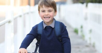Prince Louis Bikes To School In New Photo Released For Third Birthday