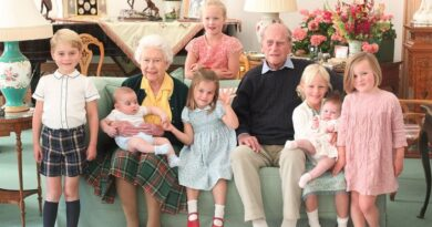 Prince Philip the Queen and their grandchildren