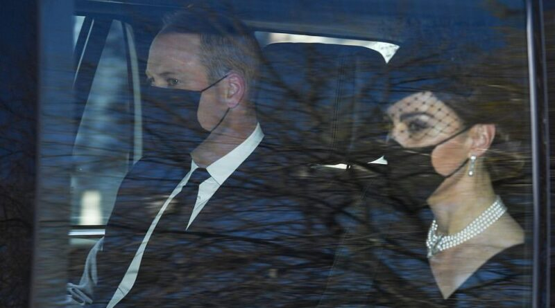 Prince William And Kate Arrive For Prince Philip's Funeral
