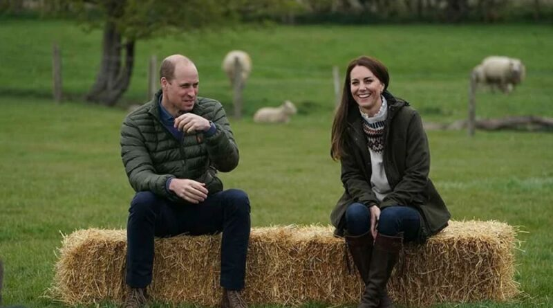 Prince William And Kate Ride Tractors During Farm Visit