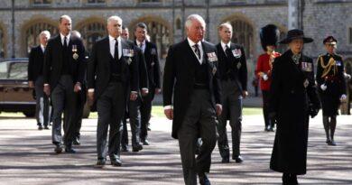 Royal Family at Prince Philip funeral