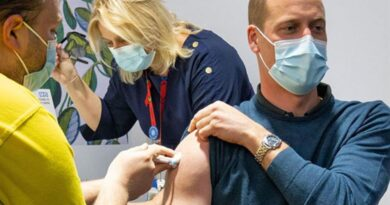 Prince William receives his first COVID-19 vaccine