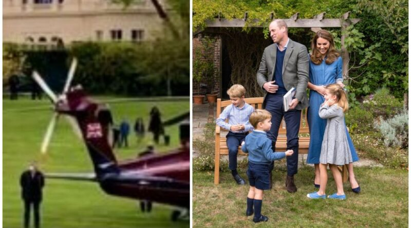 The Cambridges were spotted at Kensington Palace