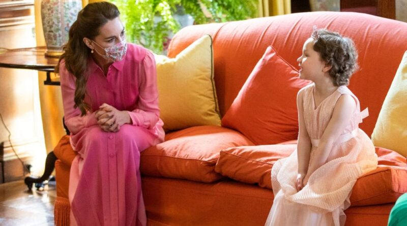 The Sweet Reason Why Kate Wore Pink Dress When Meeting Mila Sneddon