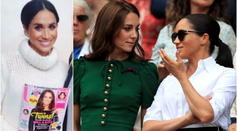 Unseen Photo Of Meghan Posing With Duchess Kate Middleton Magazine Cover Resurfaces
