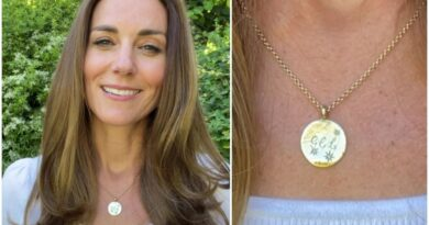 Kate Wears Necklace With George, Charlotte And Louis' Initials To Announce New Big Project